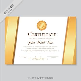 Элегантный золотой диплом