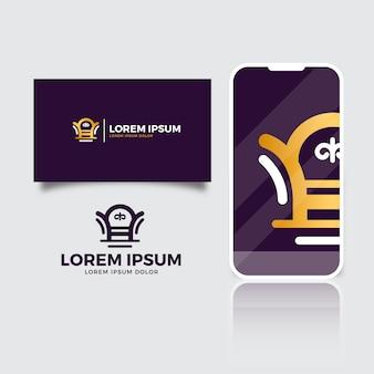 Modello di logo elegante mobili d'oro