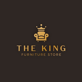 Элегантный золотой мебельный логотип