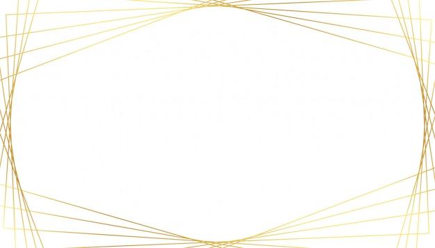 白い背景の上のエレガントな黄金の幾何学的な線