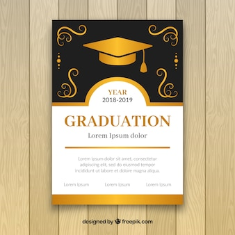Elegant golden graduation party invitation