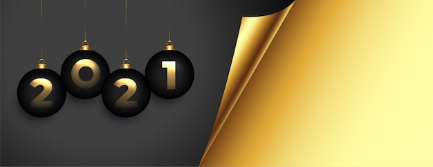 Elegant golden  happy new year banner