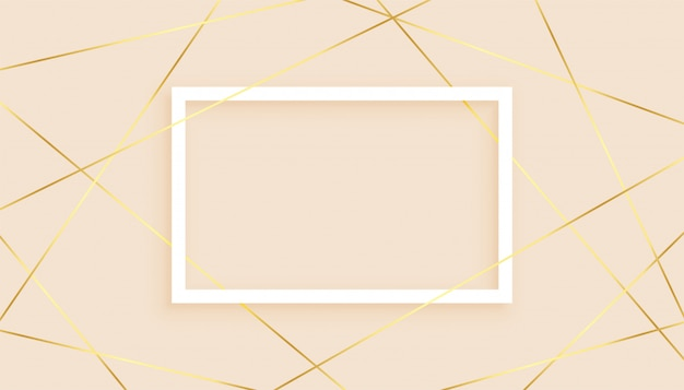 Elegant golden lines low poly abstract background