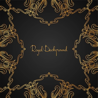 Elegant golden luxury frame background