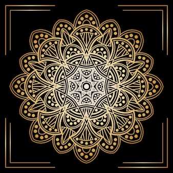 Elegant golden mandala background