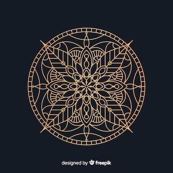 Elegant golden mandala concept background