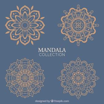Mandalas d'oro eleganti
