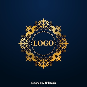 Elegant golden ornamental logo
