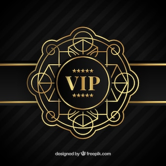 Elegant golden ornamental vip background