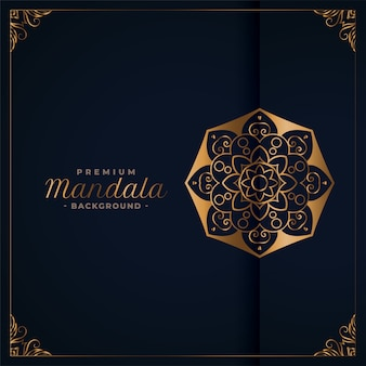 Elegant golden premium mandala background