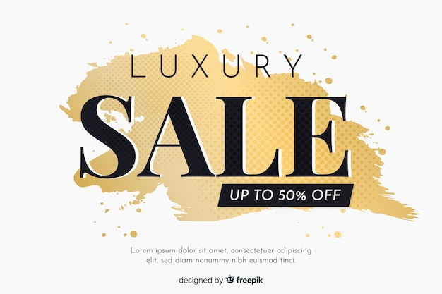 Elegant golden sales banner template