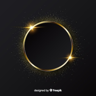 Elegant golden sparkling frame background
