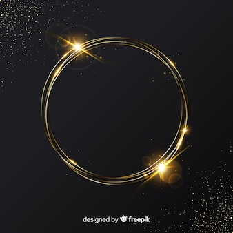 Elegant golden sparkling frame background