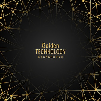 Elegant golden technology background