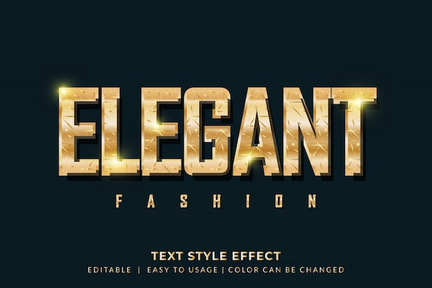 Elegant golden text style effect for fashion brand