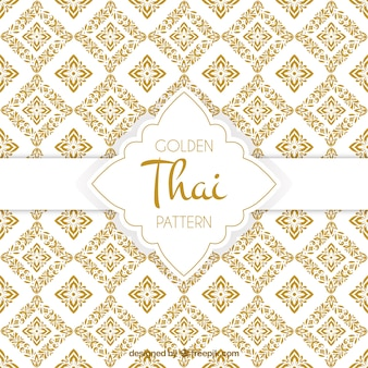 Elegant golden thai pattern