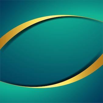 Elegant golden and turquoise wave background