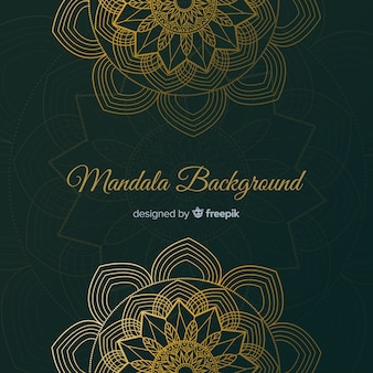 Elegant gradient mandala concept background
