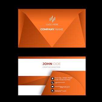 Elegant gradient sleek business cards modern design
