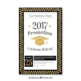 Elegant graduation party leaflet template