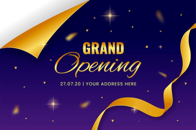 Elegant grand opening invitation card template