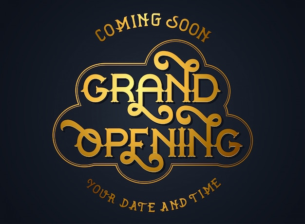 Elegant grand opening invitation cards