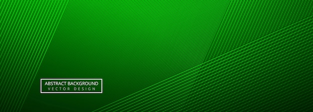 Elegant green creative lines header template background