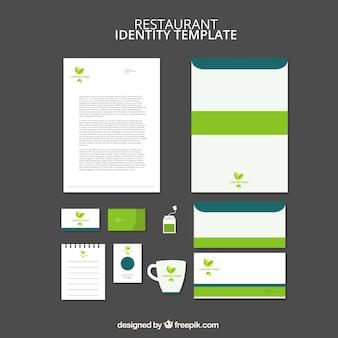 Elegant green stationery