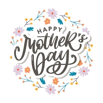 Elegant greeting card design with stylish text mother s day on colorful flowers decorated background