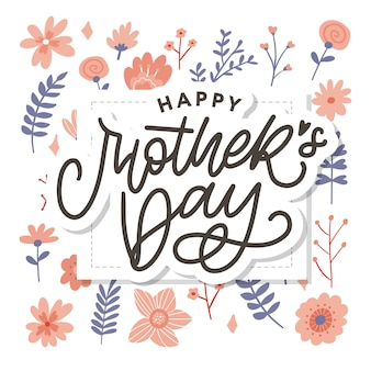 Elegant greeting card design with stylish text mother's day