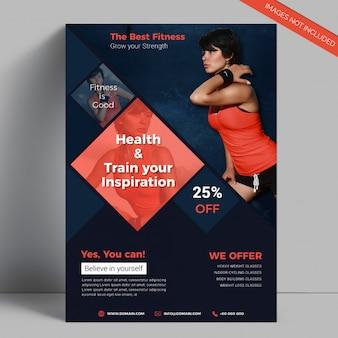 Elegant Gym Fitness Flyer Template
