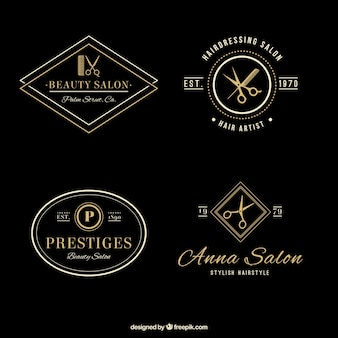 Elegant hair salon logos