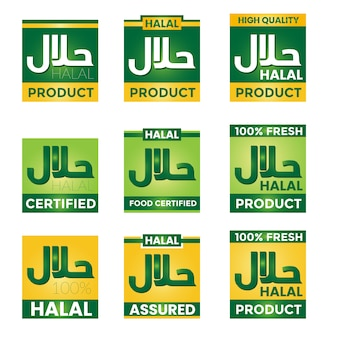 Elegant halal label collection