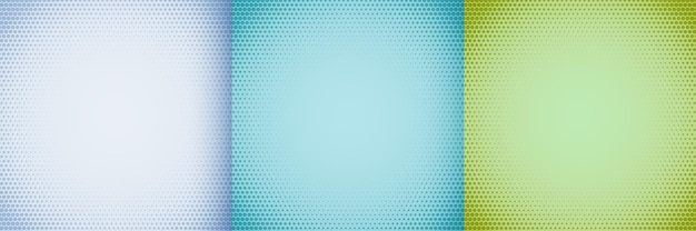 Elegant halftone background set in white blue and green shades