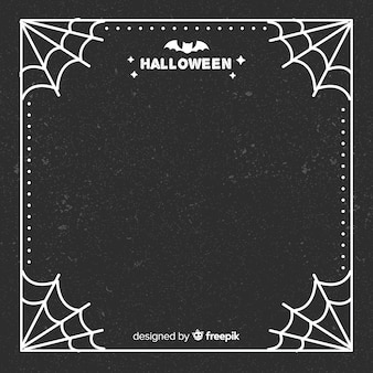Elegant halloween frame with flat design
