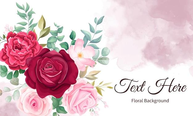 Elegante mano disegno sfondo floreale