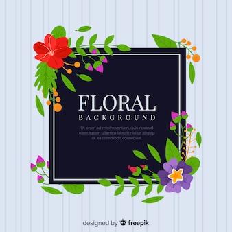 Elegant hand drawn floral background