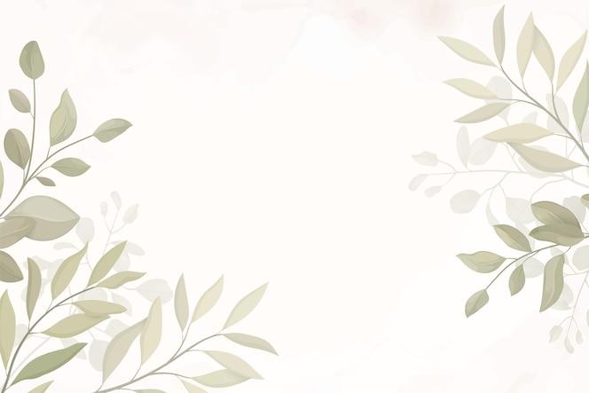 elegante sfondo foglia disegnata a mano