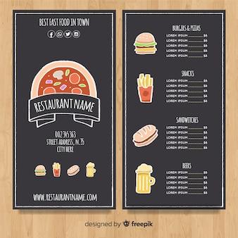 Elegant hand drawn menu template