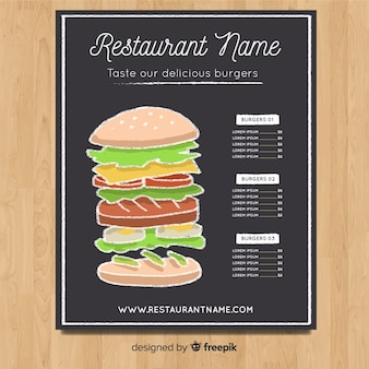 Elegant hand drawn menu template