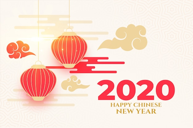 Elegant happy chinese new year design in traditional style