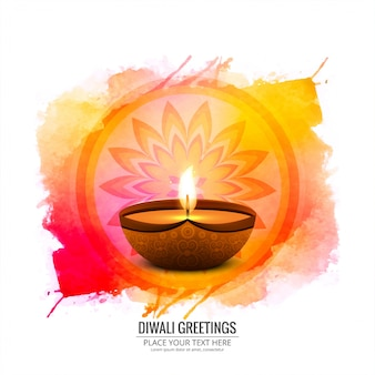Elegant happy diwali decorative colorful background vector