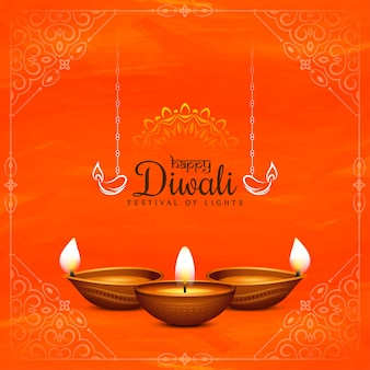 Elegant happy diwali traditional festival background