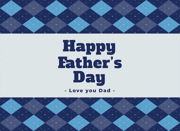 Elegant happy fathers day lovely background