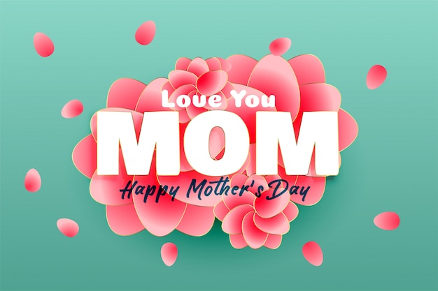 Elegant happy mother's day background