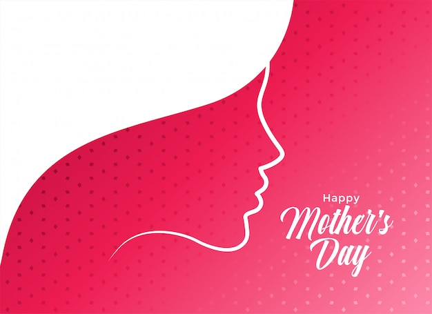 Elegant happy mother's day card design