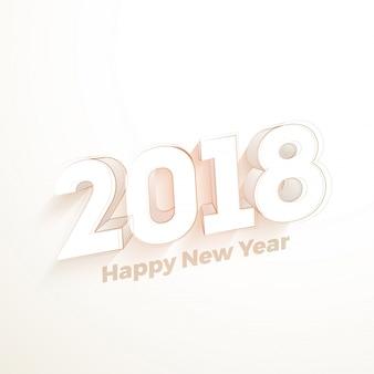 Elegant happy new year 2018 poster or flyer design.