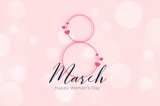 Elegant happy womens day march 8th banner