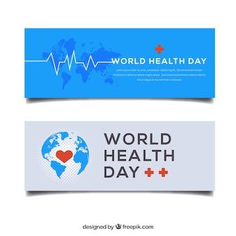 Bandiere di giorno elegante di salute