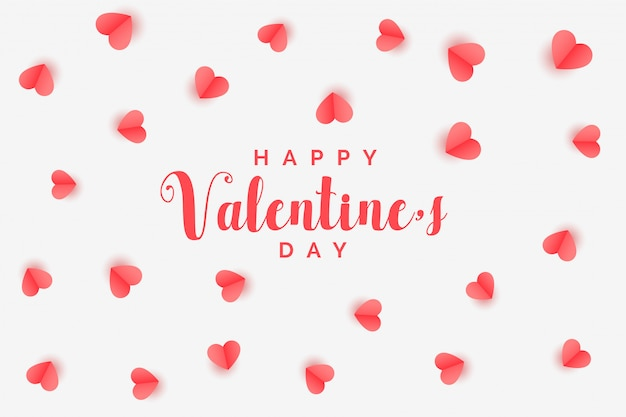 Elegant hearts pattern valentines day background